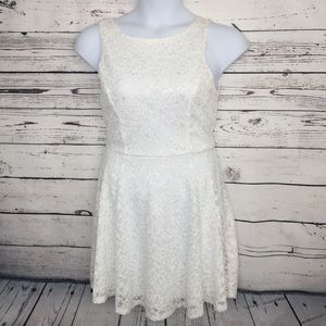 Speechless Ivory Sequined Dress Size 11